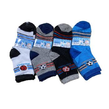 3pr Boy's Quarter Socks 4-6 [Sports]